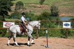 Dr. Hilary Clayton rides the Working Equitation course