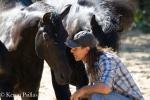 Frederic Pignon in conversation with hishorses