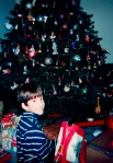 Years later, Christmas with Ian…and a tree that would get larger every year and covered with ornaments.