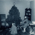 An early Christmas, age 2.