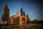 Late evening light on the Chapelle Saint Sixte, flypaper textures