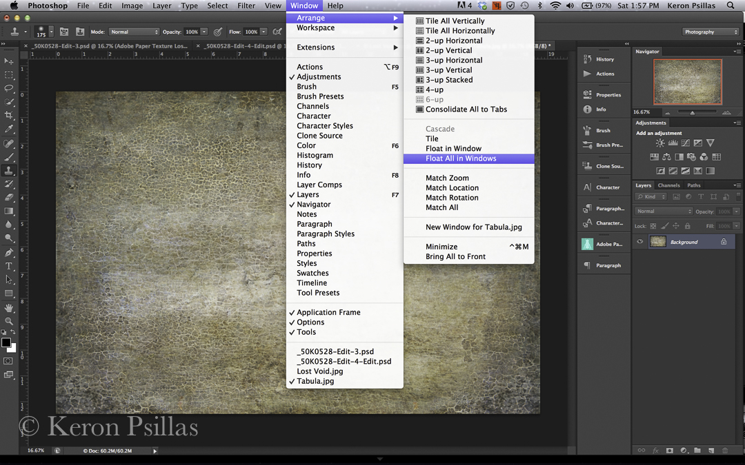 step by step to a textured image, with intent