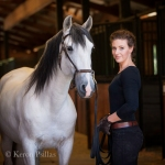 Lisa Voss with Lusitano stallion